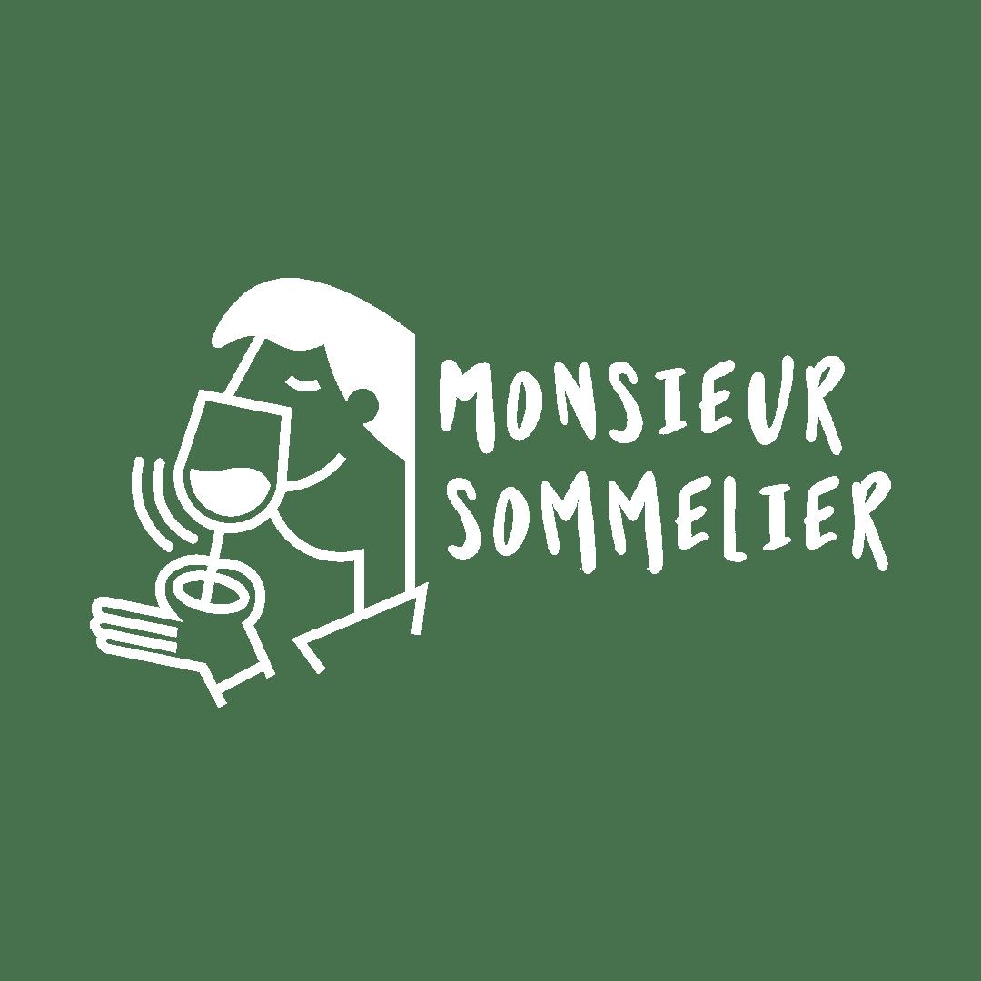 Logo Monsieur Sommelier Blanc
